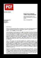 Lettre de Pierre Laurent à Jean-Luc Mélenchon, candidat à l'élection présidentielle