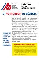 Création de 14 métropoles: et votre droit de décider? 4 pages
