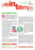 Plein Temps - octobre 2020 - Pour changer la vie, changeons les bases