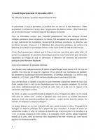 Rapport du Conseil Départemental du 12 déc. 2012