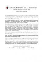Déclaration du groupe au CG sur le tracé de la LGV