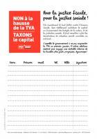 Télécharger la pétition contre la hausse de la TVA, pour une justice fiscale!