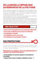 Fiche argumentaire // De la nouvelle République au renouveau de la politique