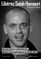 29 septembre // Rassemblement pour la libération de Salah Hamouri
