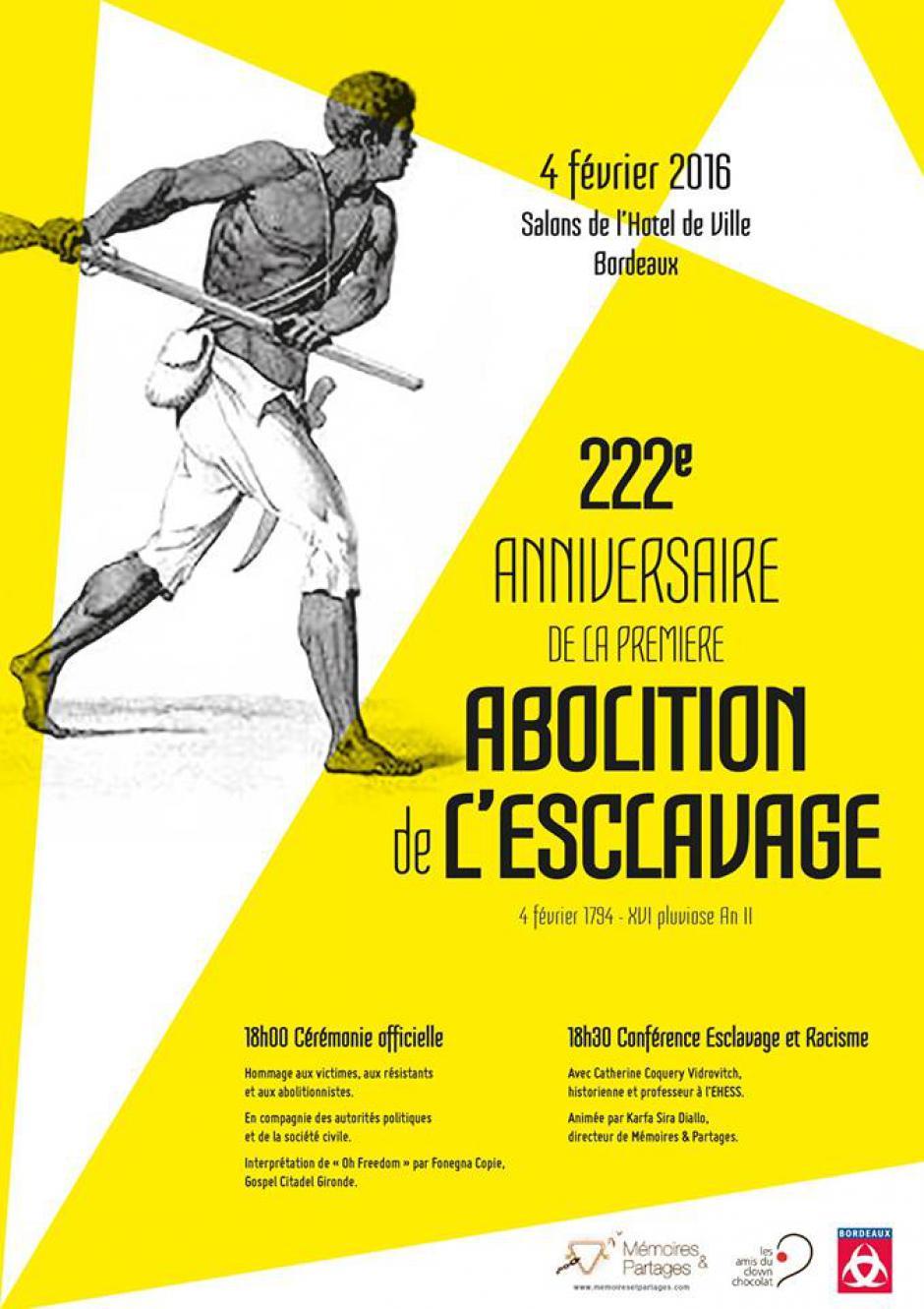 4 février // Cérémonie du 222e anniversaire de la 1ère abolition de l'esclavage