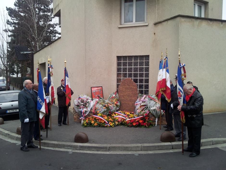 Hommage au groupe Manouchian, le 25 février 2012 à Arnouville