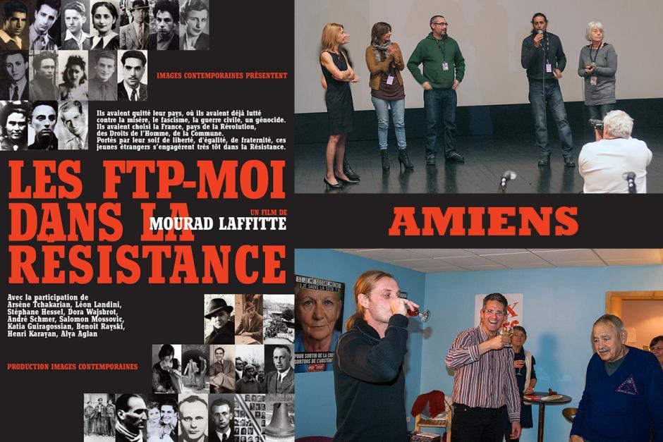 Film-tract « Les FTP-MOI dans la Résistance » et visite à nos camarades de la Somme - Amiens, 17 novembre 2012