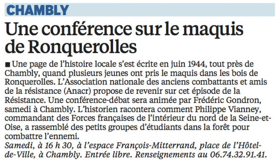 20160217-LeP-Chambly-Une conférence sur le maquis de Ronquerolles