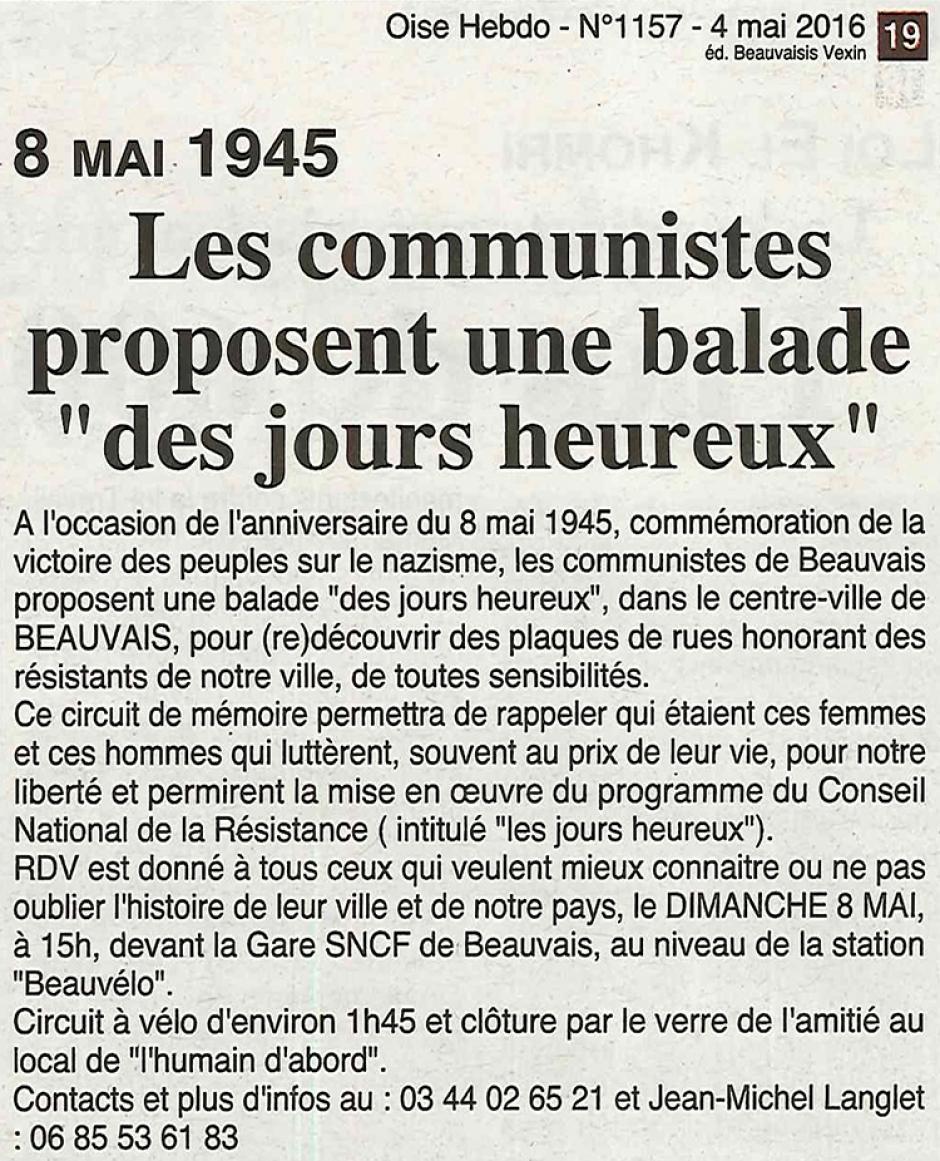 20160504-OH-Beauvais-8 mai 1945 : les communistes proposent une balade « des jours heureux »
