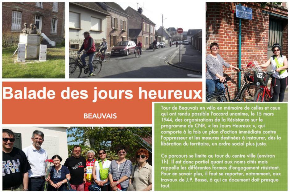 La balade « des jours heureux » avec les communistes - Beauvais, 8 mai 2016