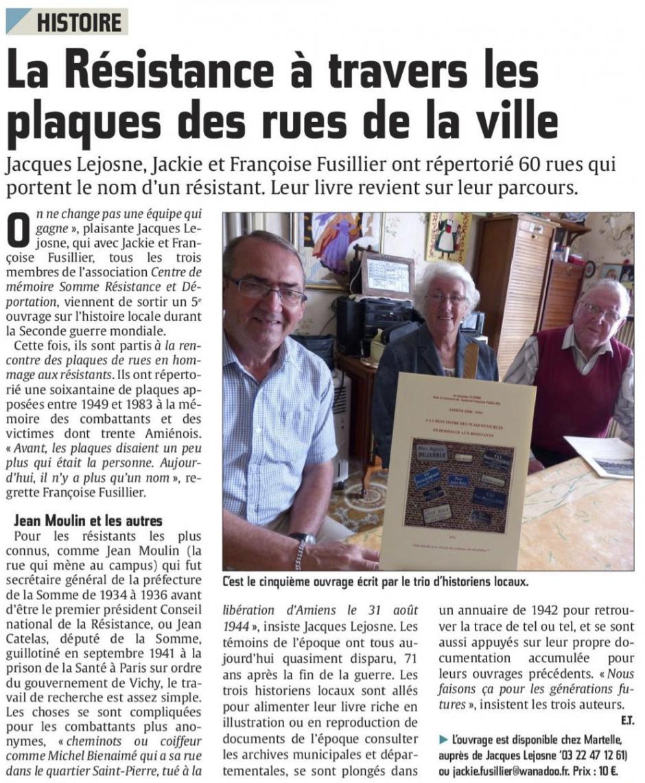 20160511-CP-Amiens-La Résistance à travers les plaques de rue de la ville [édition Amiens]