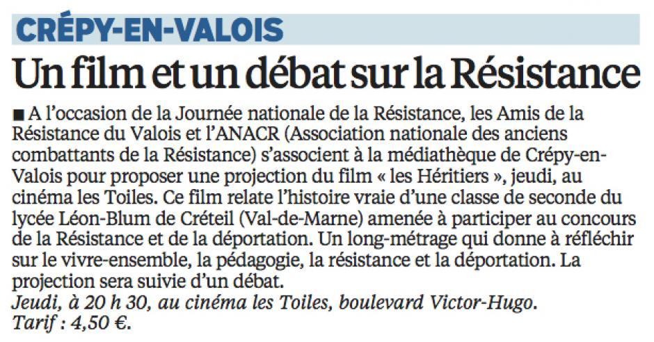 20160523-LeP-Crépy-en-Valois-Un film et un débat sur la Résistance