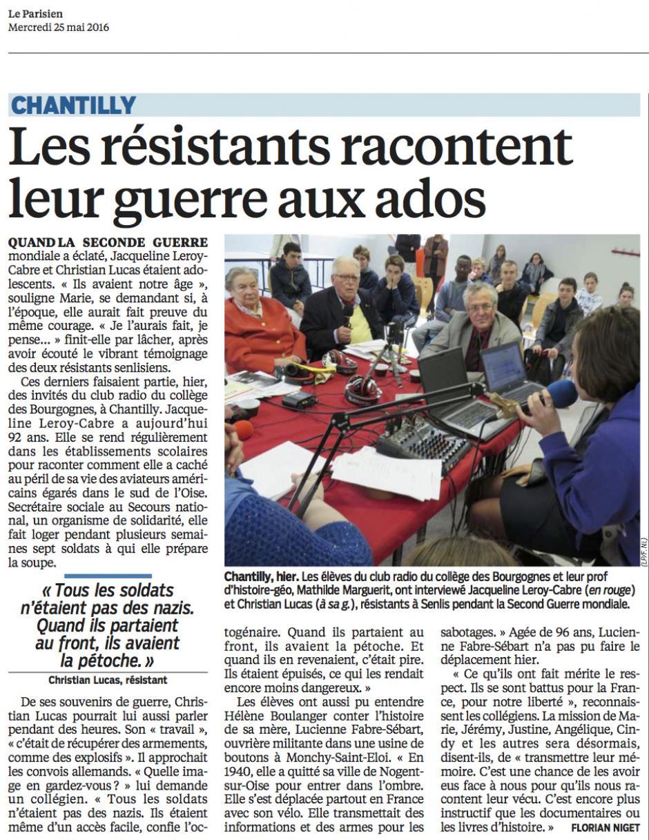 20160525-LeP-Chantilly-Les résistants racontent leur guerre aux ados