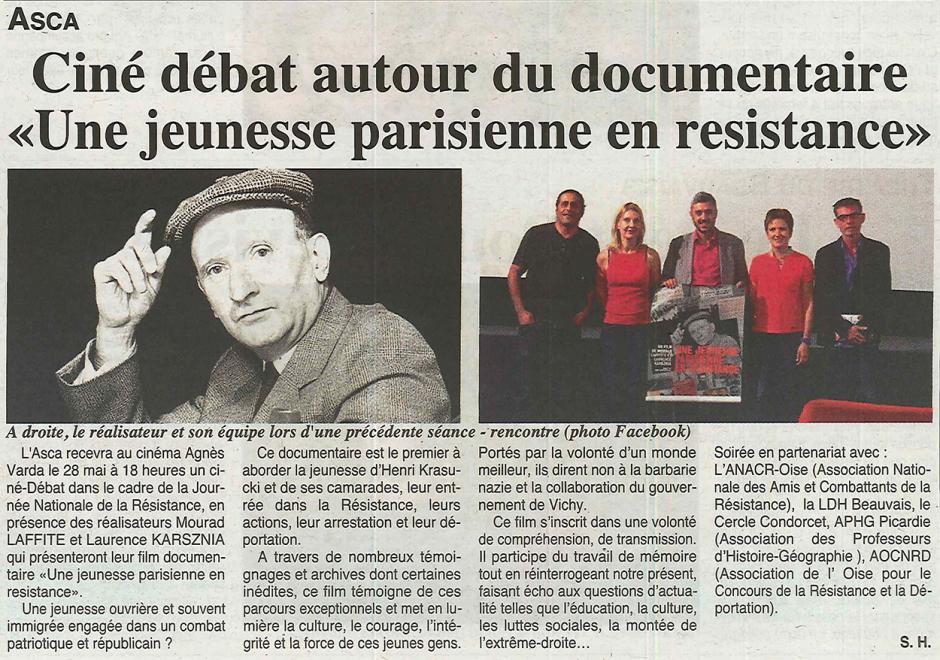 20160525-OH-Beauvais-Ciné-débat autour du documentaire « Une jeunesse parisienne en résistance »