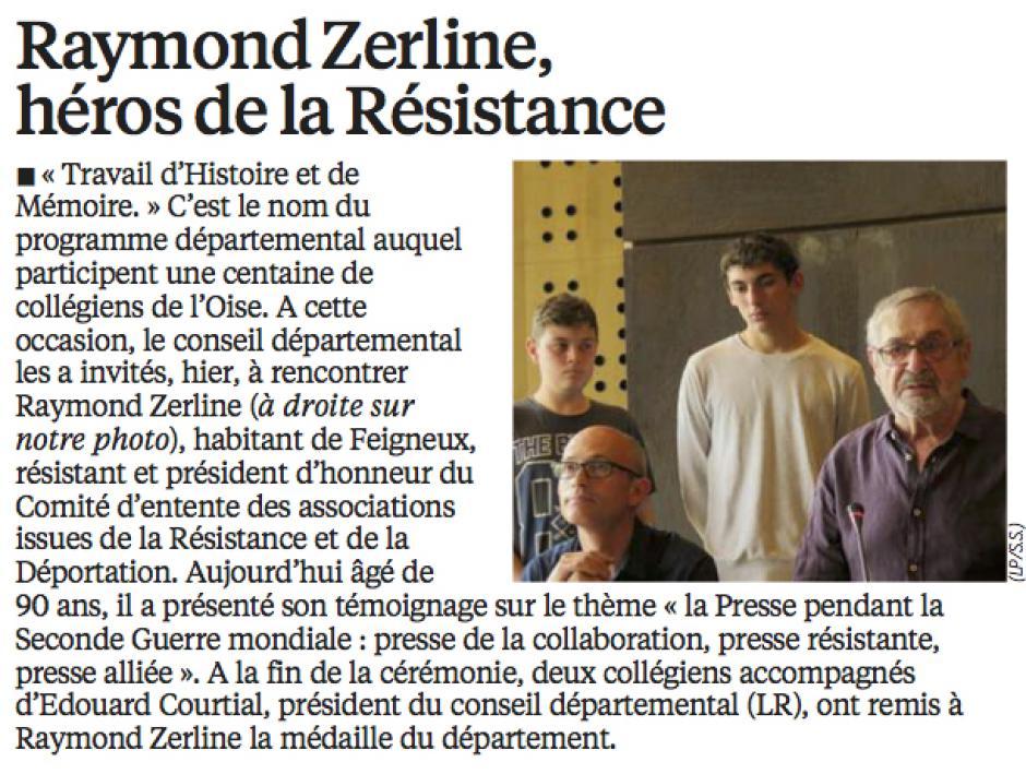 20160528-LeP-Oise-Raymond Zerline, héros de la Résistance