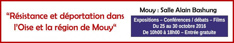 25 au 30 octobre, Mouy - Résistance et déportation dans l'Oise et la région de Mouy