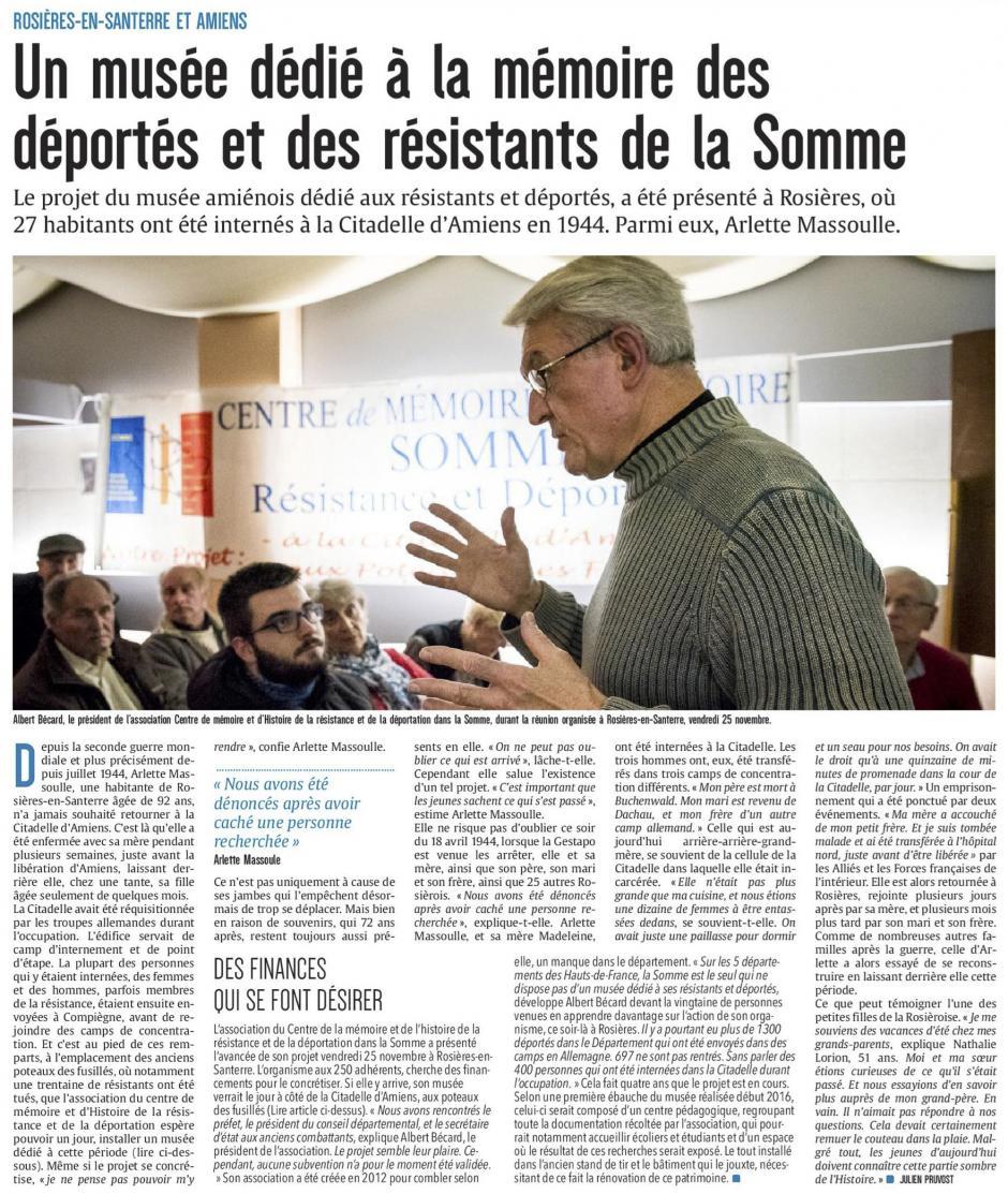 20161127-CP-Amiens-Un musée dédié à la mémoire des déportés et des résistants de la Somme [édition Somme]