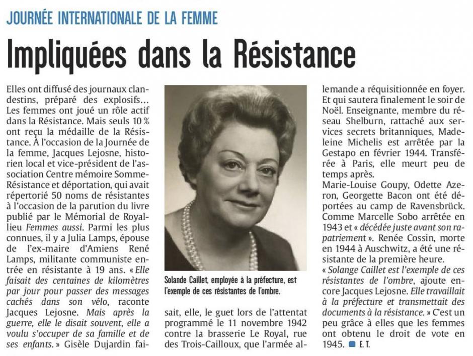 20170308-CP-Somme-Journée internationale de la femme : impliquées dans la Résistance [édition Amiens]