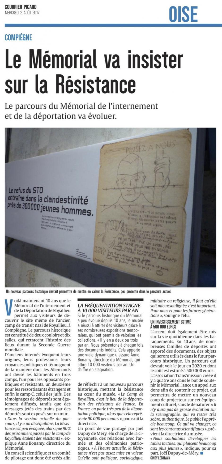 20170802-CP-Compiègne-Royallieu-Le Mémorial va insister sur la Résistance