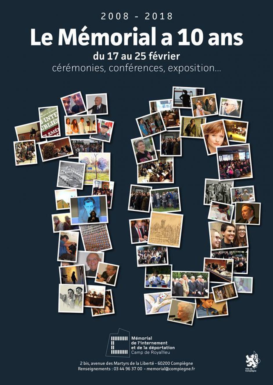 Compiègne, du 17 au 25 février 2018 - Le Mémorial a 10 ans !