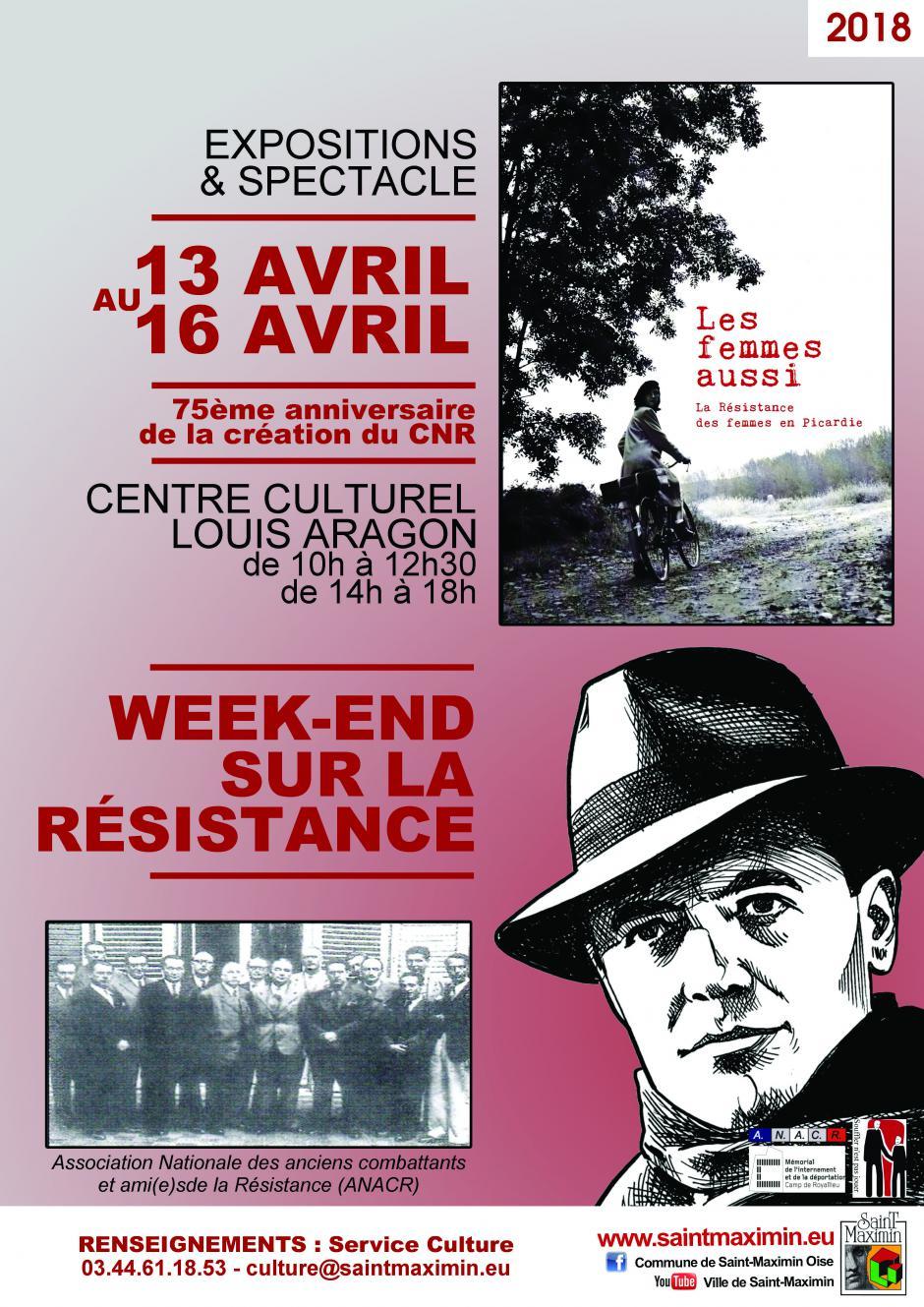 13 au 16 avril, Saint-Maximin - ANACR Oise-Week-end sur la Résistance