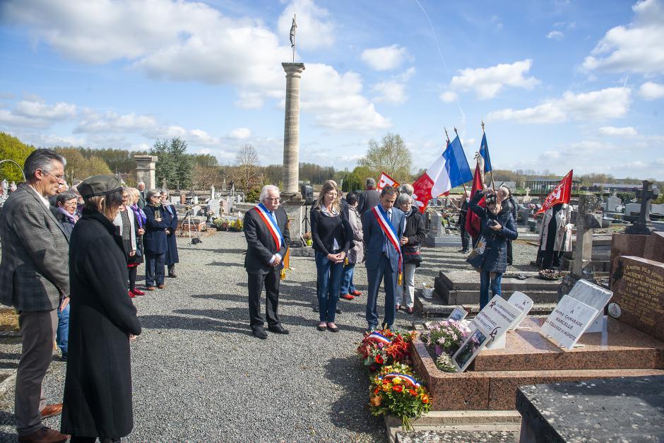 Hommage à Bernard Laurent, résistant fusillé au Mont-Valérien - Agnetz, 17 avril 2019