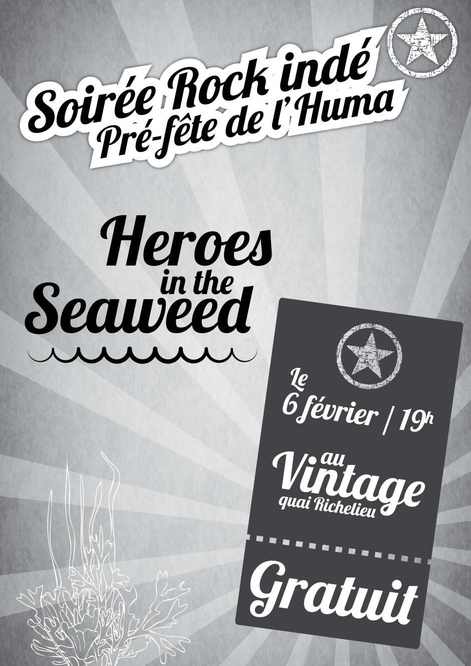 6 février: Soirée Rock indé pré-fête de l'Humanité Gironde au Vintage organisée par la JC