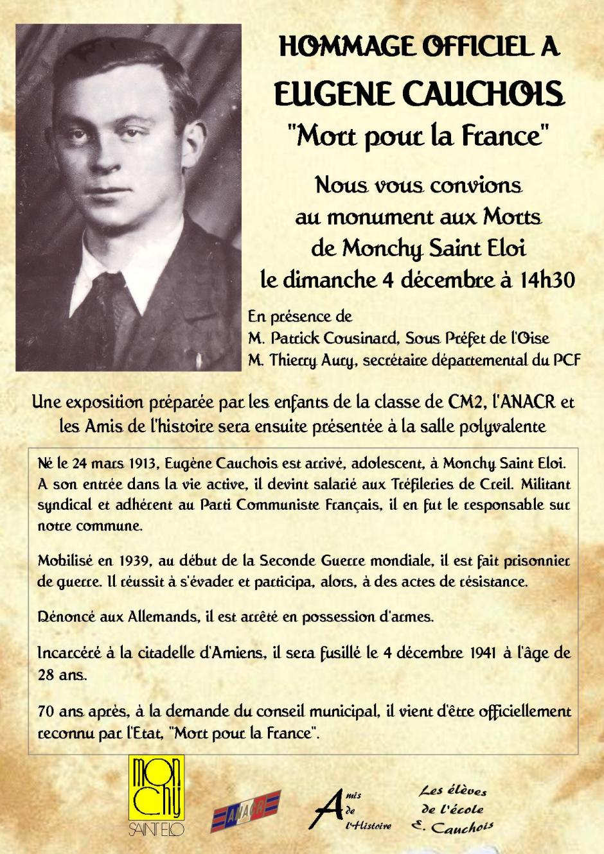 hommage Eugène Cauchois