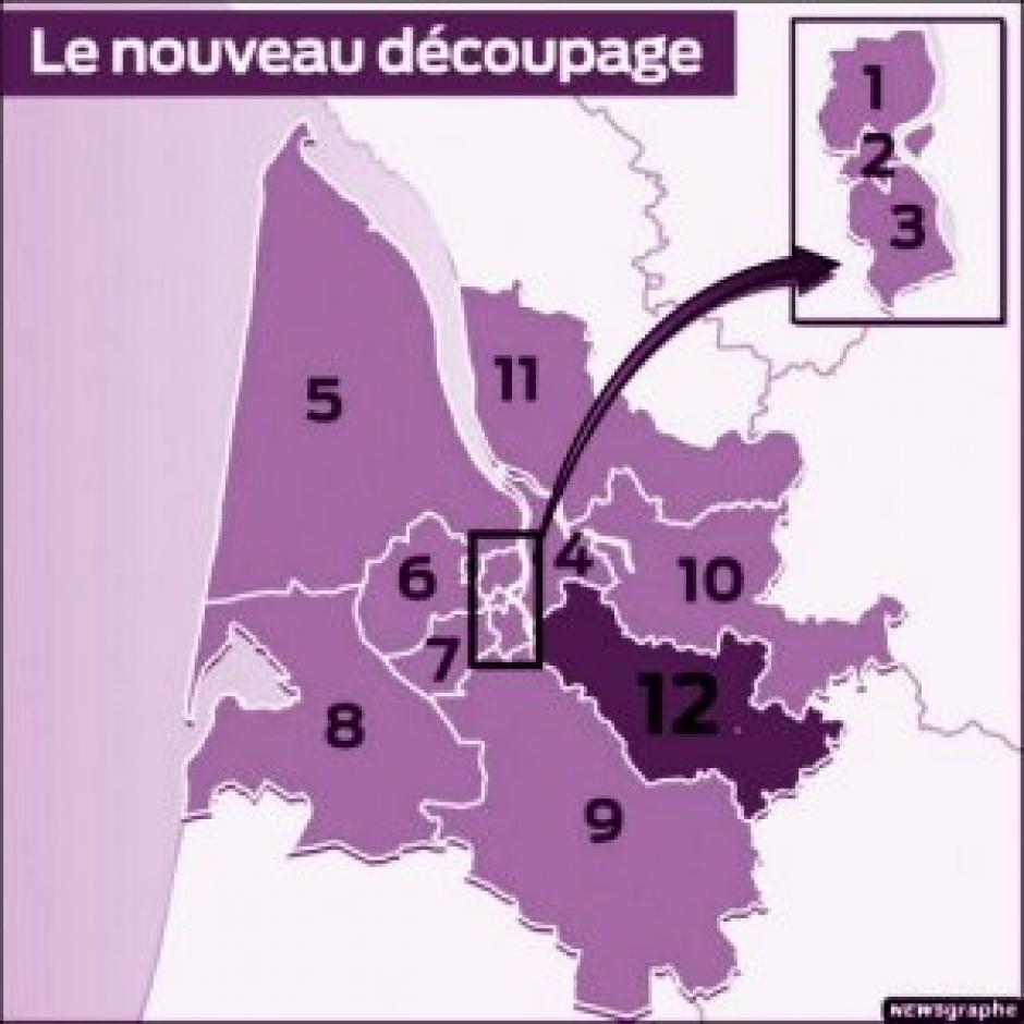 Les circonscriptions legislatives : 10 et 17 juin 2012 élisez votre député(e)