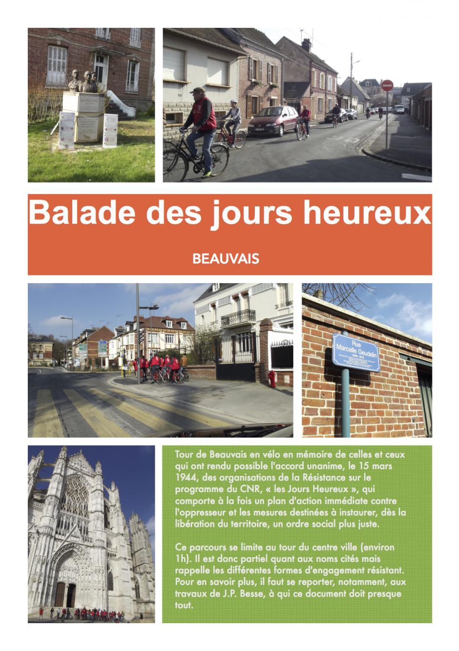 8 mai, Beauvais - Balade des Jours heureux (circuit du souvenir)