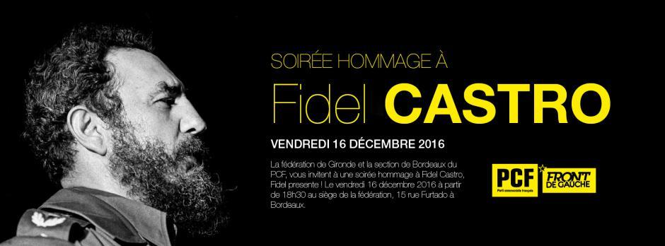 16 décembre // Soirée Hommage à Fidel Castro