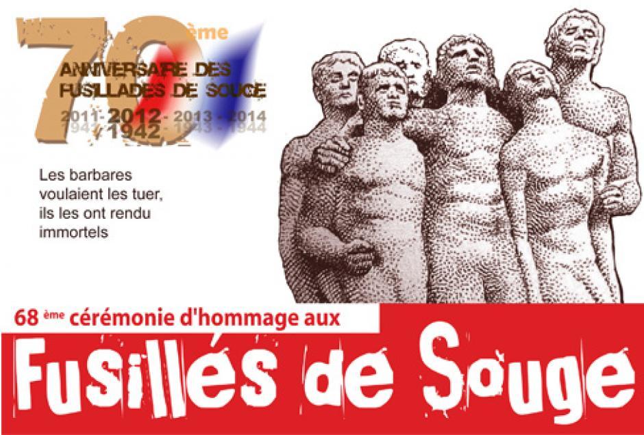 Dimanche 21 octobre: 68ème Cérémonie d'hommage aux fusillés de Souge 1942-2012