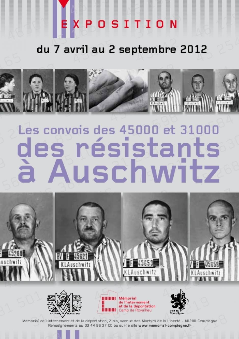 7 juillet, Compiègne - Mémoire vive-Manifestation en hommage commun aux convois des « 45 000 » et des « 31 000 » d'Auschwitz-Birkenau