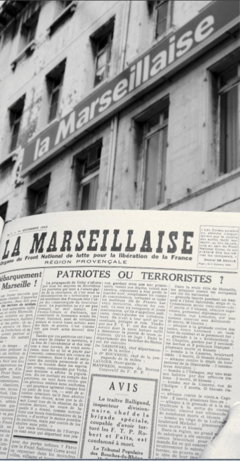 Et La Marseillaise se mit à résister dans l'ombre