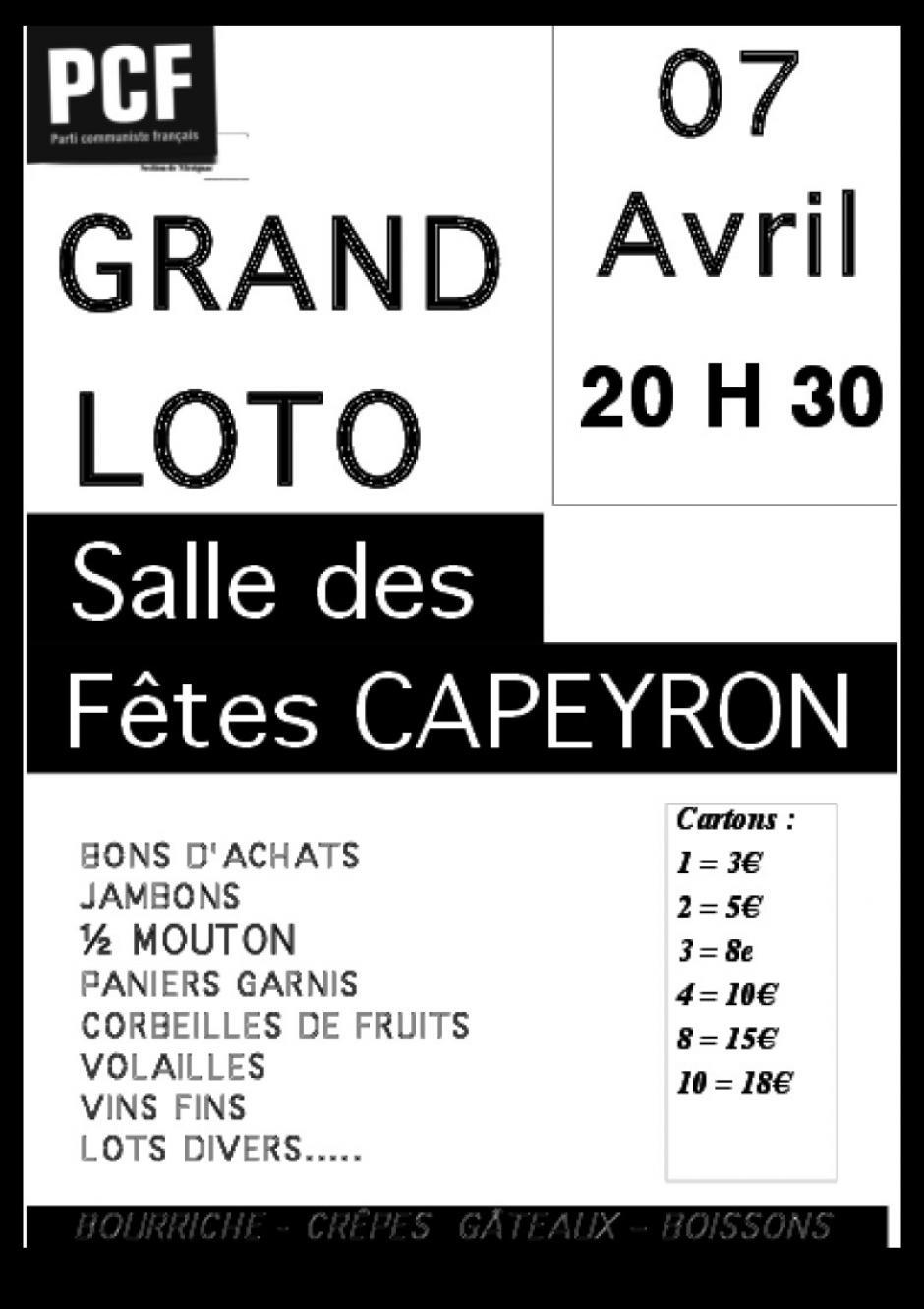 7 Avril // Loto à Mérignac