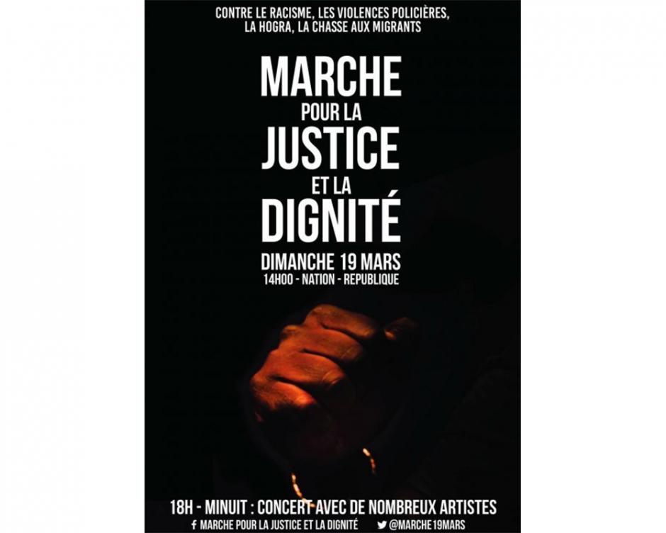 Pour la justice, la dignité et l'égalité, marchons le 19 mars 2017 !