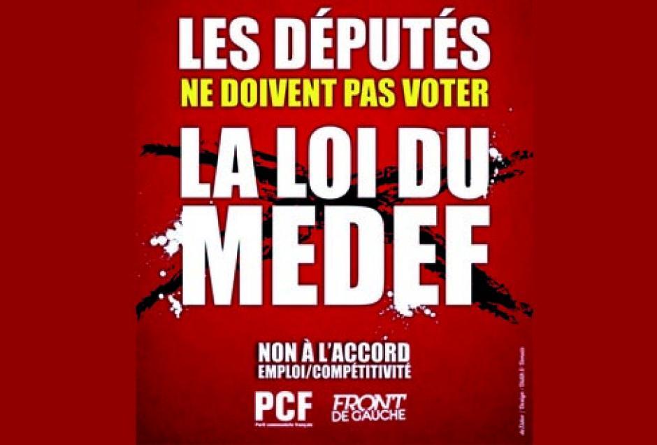 Les députés ne doivent pas voter la loi du MEDEF