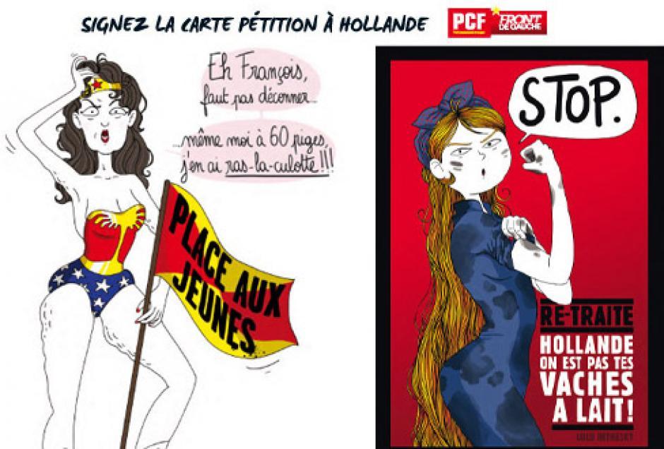 80 000 Carte-pétitions signées, écrivez à Hollande pour les retraites!