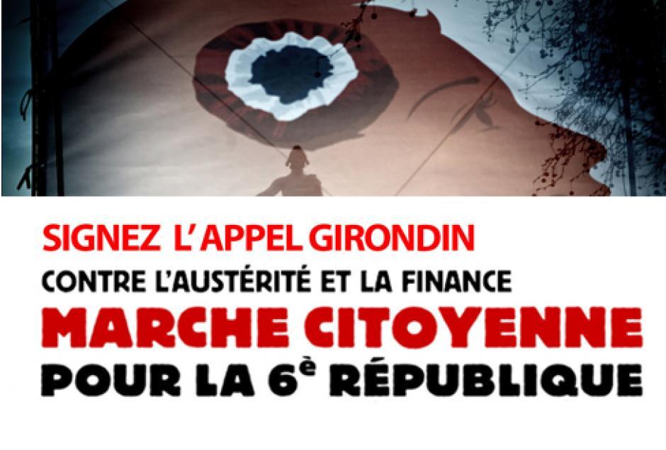 2 Juin: marche citoyenne à Bordeaux contre la finance et l'austérité, pour une 6e République