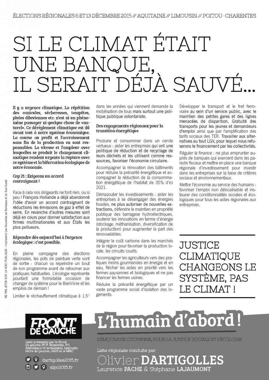 Tract Climat // COP 21