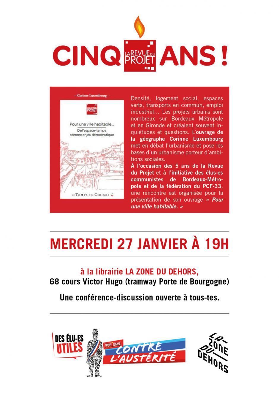 27 janvier  - Bordeaux // Conférence-discussion
